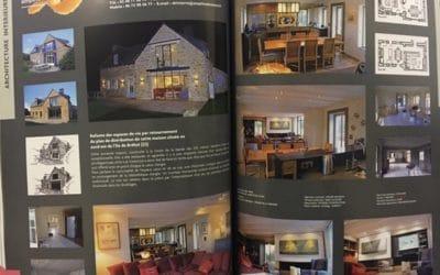 L'Henoret a réalisé des travaux intérieurs de peinture dans une maison rénovée sur l'île de Bréhat.