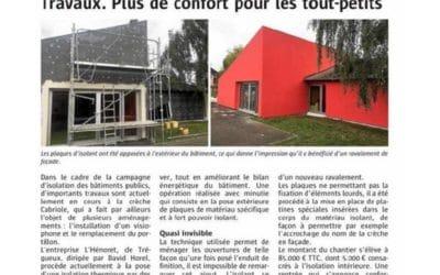 L'Henoret réalise des travaux d'isolation thermique extérieure sur une crèche à Trégueux (22)