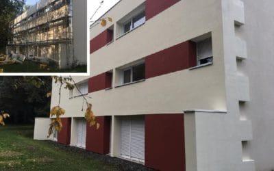 Isolation extérieure Sto sur un des bâtiments de l'Hôpital Yves Le Foll de Saint-Brieuc