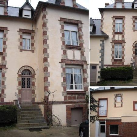 Ravalement à la chaux d'une maison dans les Côtes d'Armor
